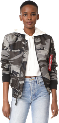 Alpha Industries MA-1 Slim Fit Jacket $150 thestylecure.com