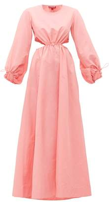 STAUD Ivy Drawcord Cut Out Maxi Dress - Womens - Pink