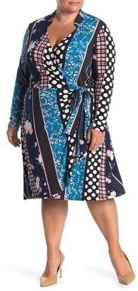 Leota Gabrielle Surplice V-neck Dress (Plus Size)