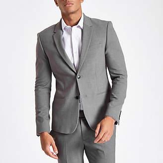River Island Grey super skinny suit jacket