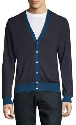 Brioni Long-Sleeve Cashmere Cardigan