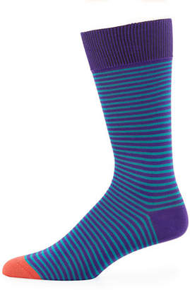 Paul Smith Mini Striped Cotton-Blend Socks