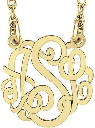 Fine Jewelry Personalized 10mm Script Monogram Necklace
