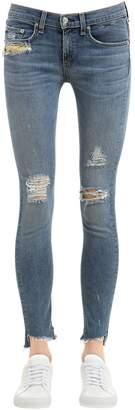 Rag & Bone Rag&bone Skinny Distressed Cotton Denim Jeans