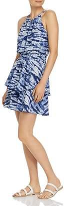 Aqua Tiered Tie-Dye Dress - 100% Exclusive