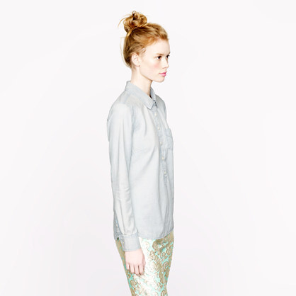 J.Crew Faded chambray popover