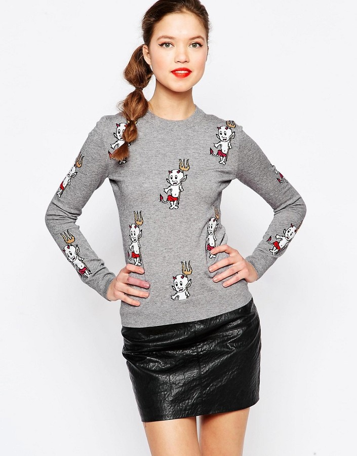 Love Moschino Devil Knitted Sweater