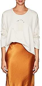 Raquel Allegra Women's Seven-Chakra-Print Cotton Sweatshirt - White