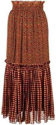 Proenza Schouler Crepe Chiffon Tiered Skirt