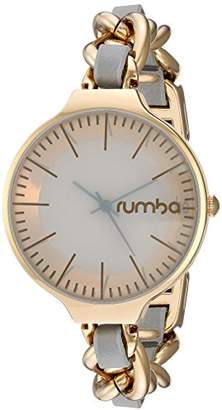 RumbaTime Women's 'Orchard Chain Leather' Quartz Metal and Alloy Casual Watch