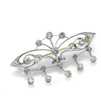 Platinum Victorian European Diamond Brooch
