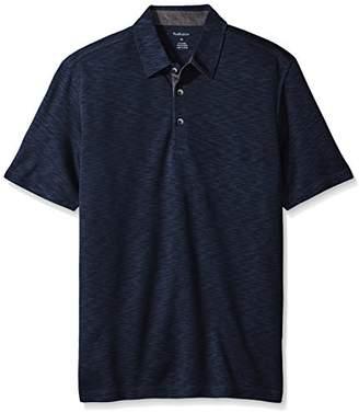Van Heusen Men's Two Toned Short Sleeve Self Collar Polo Shirt