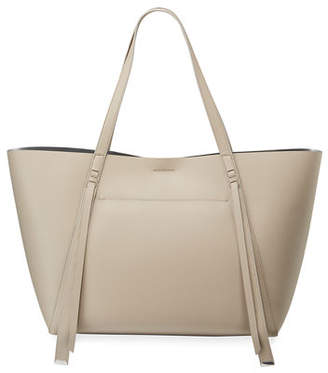 AllSaints Lea Stitched Leather Tote Bag
