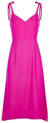 Milly Bella Hot Pink Washed Crepe Dress