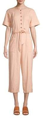Madewell Top-Stitched Coverall Jumpsuit