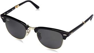 Ray-Ban Unisex-Adult Clubmaster Folding 0RB2176 Square Sunglasses