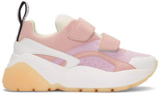 Stella McCartney Pink and White Eclipse Sneakers