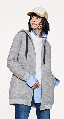 Esprit EDC - Embroidered bomber jacket in wool