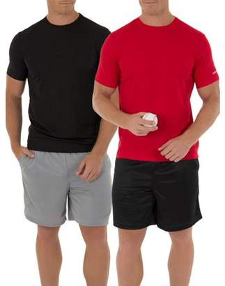 Athletic Works Big Men's Core Quick Dry Short Sleeve Tee, 2 pack bundle