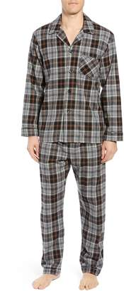 Majestic International Dark & Stormy Flannel Cotton Pajama Set