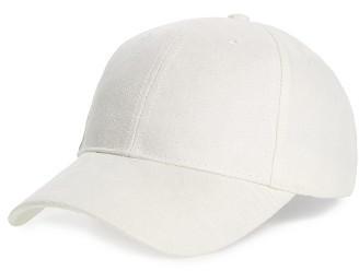 BP Women's Faux Suede Baseball Cap - White