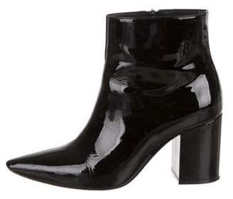 Anine Bing Patent Leather Ankle Boots