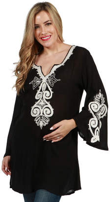 24/7 Comfort Apparel Payton Maternity Tunic Top