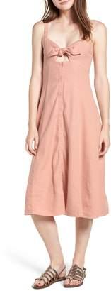 Splendid Slub Tie Front Dress