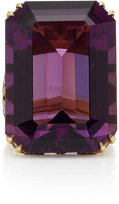 Sylva & Cie 18K Gold Amethyst And Diamond Ring