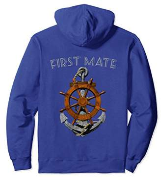 First Mate Anchor Helm Nautical Sailing Pullover Hoodie