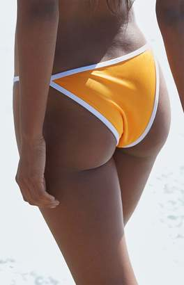 La Hearts Contrast Binding Cheeky Bikini Bottom
