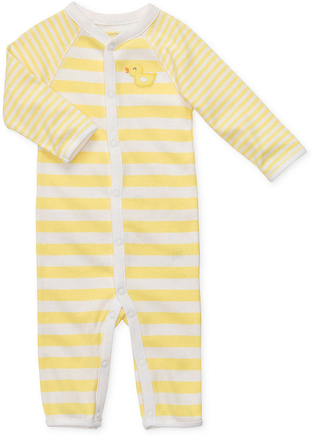 Carter's Baby Coverall, Easy-to-Change Duck Sleep n' Play Footless One-Piece