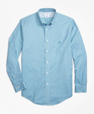 Brooks Brothers Non-Iron Regent Fit Gingham Sport Shirt
