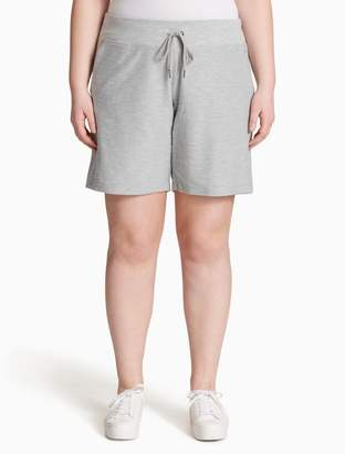 Calvin Klein plus size performance heathered drawstring shorts
