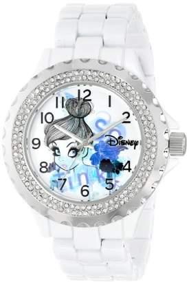 EWatchFactory Disney Women's W000997 Tinker Bell White Enamel Watch