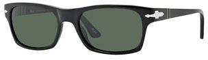 Persol Square Plastic Sunglasses, Black