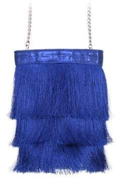 Nina Caracas Long Fringe Bucket Bag