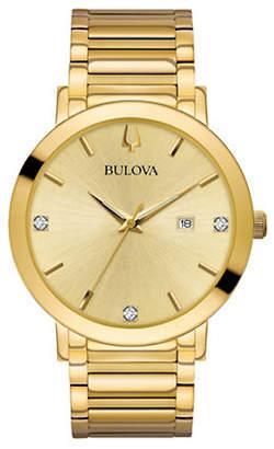 Bulova Modern Collection Goldtone Stainless Steel Link Bracelet Watch