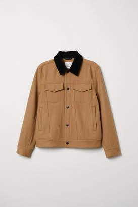 H&M Short Wool-blend Jacket - Beige