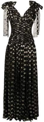 Dolce & Gabbana metallic spot print evening dress
