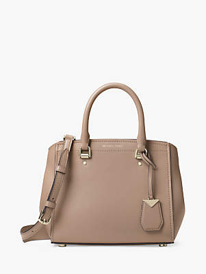 Michael Kors MICHAEL Benning Leather Medium Satchel Bag