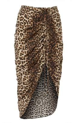 Veronica Beard Ari Asymmetrical Leopard Skirt