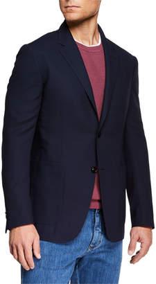 Ermenegildo Zegna Men's Packaway Wool Two-Button Jacket