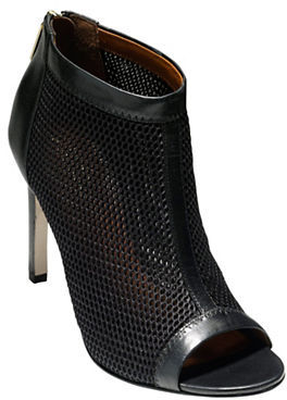 Cole Haan  Cole Haan Adella Mesh & Leather Peep-Toe Booties