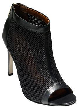 Cole Haan Cole Haan Adella Mesh & Leather Peep-Toe Booties
