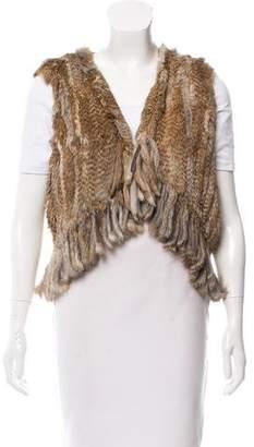 Jocelyn Knitted Fur Vest