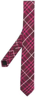 Burberry slim cut check tie