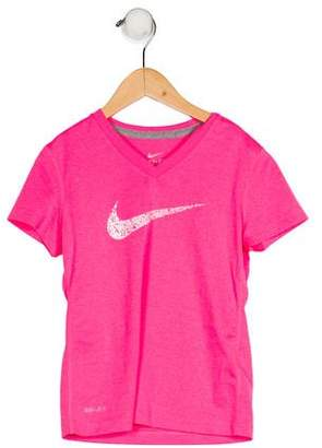 Nike Girls' V-Neck Athletic Top