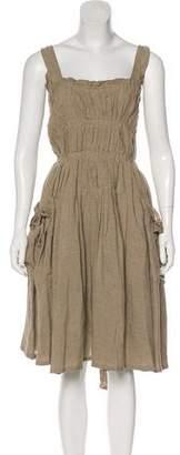 Bottega Veneta Linen A-Line Dress