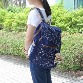 DOWL 3PCS/Set Women Backpack Comfortable Girl School Bag Canvas Shoulder Bag